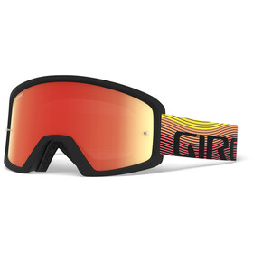 Giro Blok MTB Goggles orange/black heatwave, amber/clear